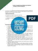 PROTOCOLO DE LAVADO Y DESINFECCION DE MANOS DEL PERSONAL HC INTEGRALES