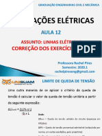 Aula 12_Correçao Exercícios 7 e 8_Linhas Elétricas