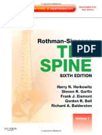Rothman Simeone the Spine Expert Consult 2 Volume 6Th Edition