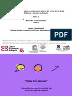Presentaci+¦n Taller Mercadeo y Comunicaci+¦n  - Taller Dos LienzosFEB 6 Y 7