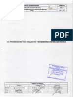 149 Proc para evaluacion y adq de tec medica