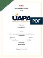 TAREA V Y VI, PRACTICA DOCENTE III r
