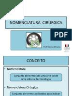 1 aula NOMENCLATURA CIRURGICA