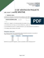 Pronóstico de Ventas en Paquete de Software Minitab