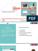 GUÍA para el llenado de la DECLARACIÓN JURADA DE SALUD para docentes , directores y auxiliares de educación.