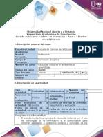 Guía de actividades y Rubrica de evaluación - Paso 4 - Diseñar una pagina web
