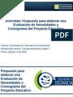 CLAUDIA A CASAS TRUJILLOActividad 4.2 Eva. de necesidades y cronograma