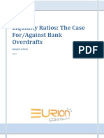 EURION - Liquidity Ratios and Bank Overdrafts