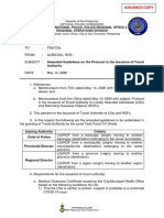 ADVANCE COPY Amended Guidelines on the Protocol in the Issuance of Travel Authority