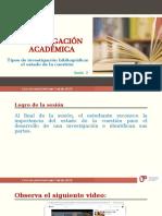 Sesión 2 PPT Tipos de Investigación Bibliográfica
