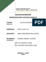 PLAN DE MARKETING Y VENTAS - EMPRESA ENTEL PERU S.A.