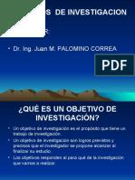 OBJETIVOS DE INVESTIGACIÓN