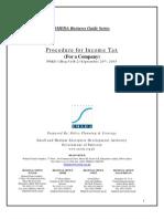 Income Tax Procedure for Company