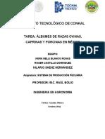 Álbumes de razas ovinas, caprinas y porcinas de México