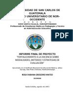 1. ESTRUCTURA DEL INFORME FINAL DE PROYECTO PARA PEM