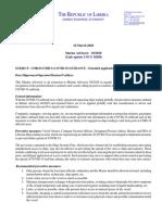 Marine Advisory_10-2020_Coronavirus - extended application updated