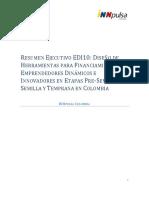 Diseño Herramientas Financiamiento de Emprendedores Dinámicos_Etapas_Pre-Semilla, Semilla y Temprana en Colombia