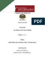 PRINCIPIOS DEL S. PROCESAL ORAL ADVERSARIAL (1)