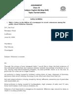 Formal Letter Assignment (April 06, 2020)