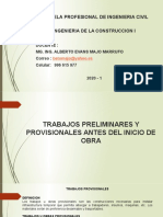 TRABAJOS PRELIMINARES Y PROVISIONALES EN OBRA - SESION 3