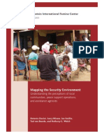 Mapping the Security Environment--Understanding the perceptions of local communities, peace support operations, and assistance agencies