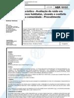 NBR-10151 (2000) Avaliação do ruído, Procedimento