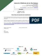 C25 2020 Nuevo Plazo Suspensión de Competiciones