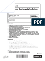 51713 LCCI Certificate in Advance Business Calculations ASE3003 June 2016