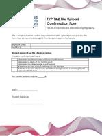 Form G - File Upload Confirmation Form