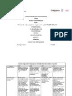 Elaboración de cuadro comparativo de los programas de español