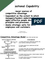 Organizational Capability