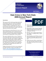 Hate Crime in Nys 2009 Annual Report