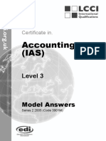Accounting IAS (Malaysia) Model Answers Series 2 2005 Old Syllabus