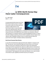 Negotiations With North Korea May Have Cyber Consequences by Adam Meyers at 38 North