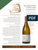 Bourgogne cote d'or chardonnay