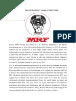 SUSTAINABLE DEVELOPMENT GOALS OF MRF TYERS 1234