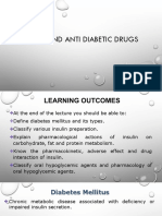 Insulin and anti diabetic drugs