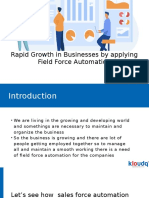 Rapid Growth in Businesses by applying Field Force Automation