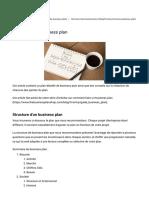 Structure d'un business plan _ sommaire et conseils