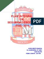 PLAN INTEGRAL DE SEGURIDAD ESCOLAR PISE E.B-SN FELIPE 2014