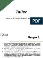 Taller Balances de Energía Sistemas No Reactivos