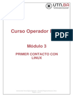 Modulo 3 - Primer contacto con Linux