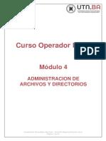 Modulo 4 - Administración de archivos y directorios