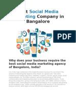 Best Social Media Marketing Company in Bangalore