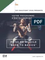 Programme Prise de Muscle
