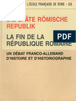 La fin de la Republique Romaine(фр. и нем яз.)