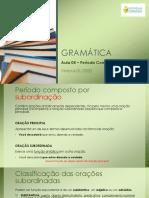 GRAMÁTICA - Aula 05 - Oração subordinada substantiva.pdf