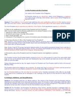 Notes in Executive Department (Philippine Constitution)