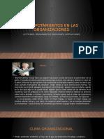 Actitudes,  Diapositivas Comportamiento Organizacional