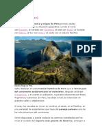 Origen de Perú